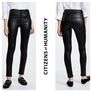 Citizens of Humanity High Rise Rocket Black Jeans